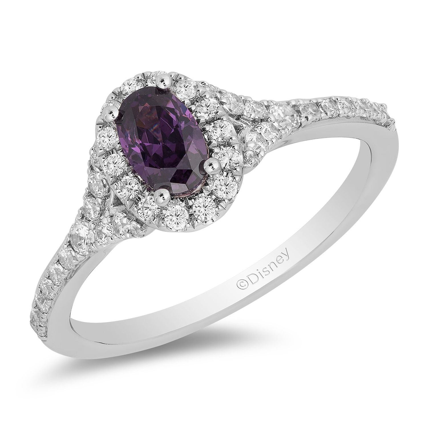 Enchanted Disney Fine Jewelry Diamond Amethyst Ariel Ring - Product number 4676629