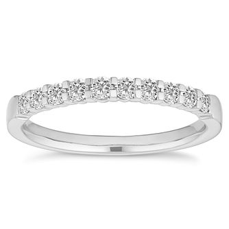 Platinum 1/3ct Diamond Half Eternity Ring - Product number 4677048
