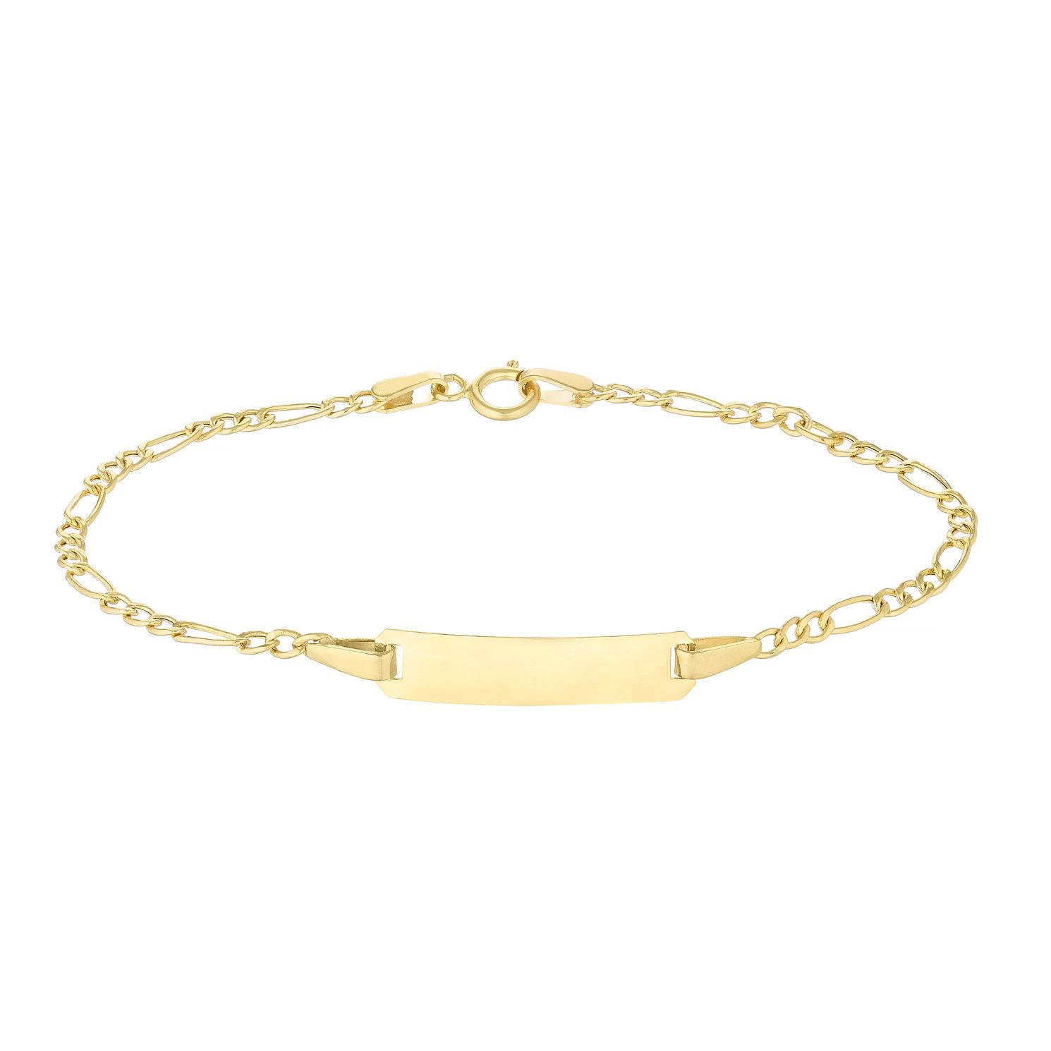 Children's 9ct Yellow Gold Figaro ID Bracelet - Product number 4677102