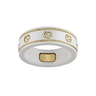 Gucci Icon Interlocking G Yellow Gold Medium Ring - Product number 4677315