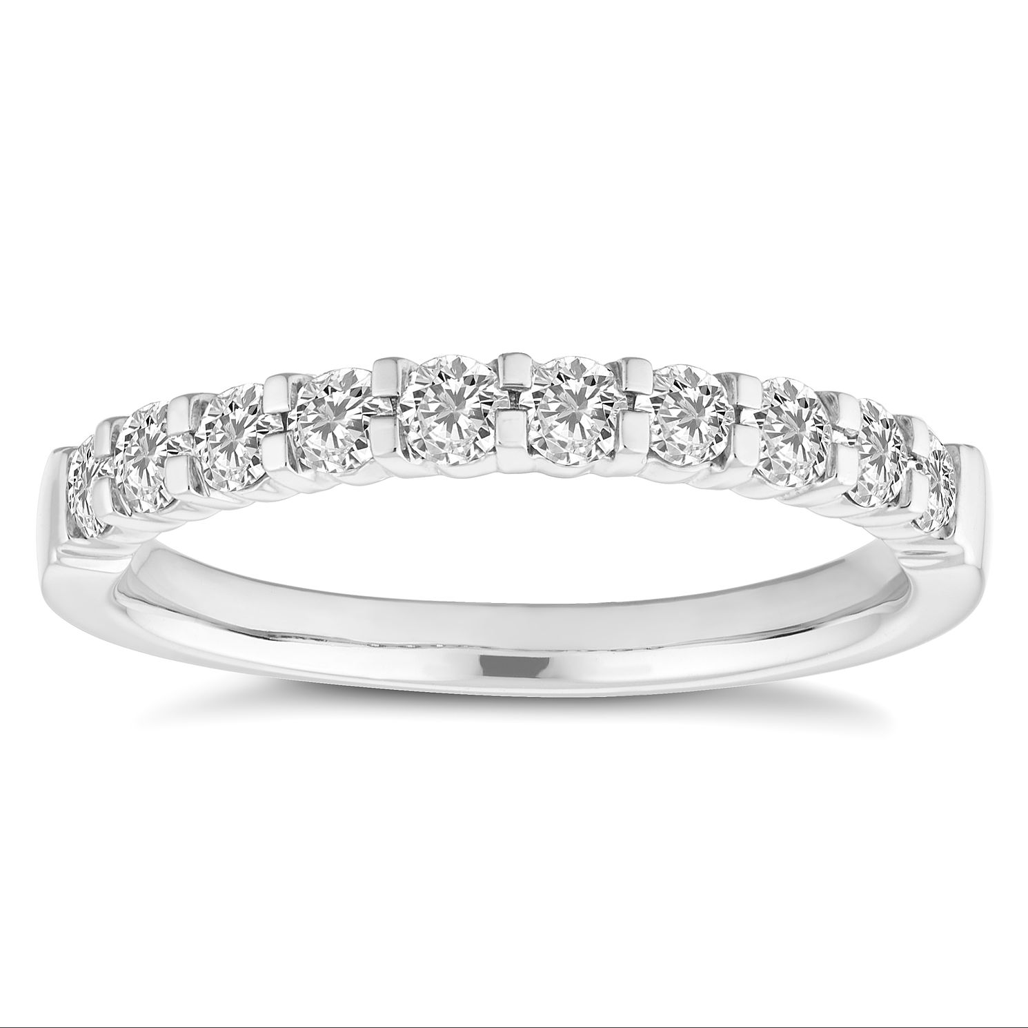 Platinum 0.50ct Diamond Half Eternity Ring - Product number 4677498