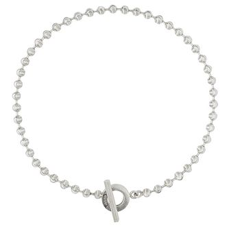 Gucci Silver Boule Chain T-Bar Necklace - Product number 4677676