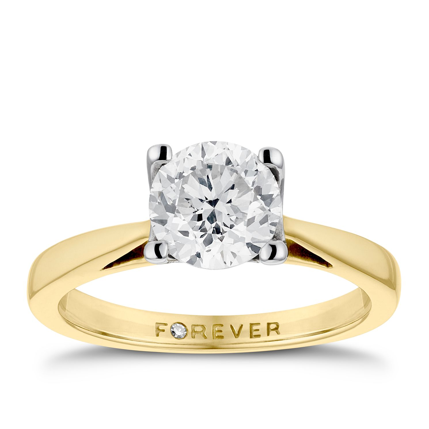 The Forever Diamond 18ct Gold 1ct Ring - Product number 4677862