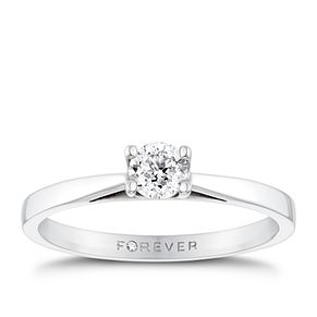 Platinum 1/4 Carat Forever Diamond Ring - Product number 4678079
