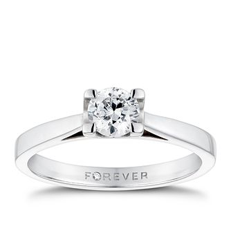 The Forever Diamond Platinum 0.50ct Ring - Product number 4678249