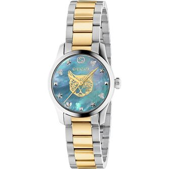 Gucci G-Timeless Cat Two Tone Bracelet Watch - Product number 4678524