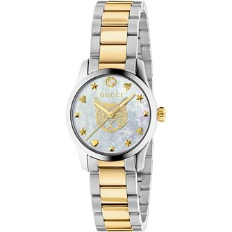 Gucci G-Timeless Cat Two Tone Bracelet Watch - Product number 4678680