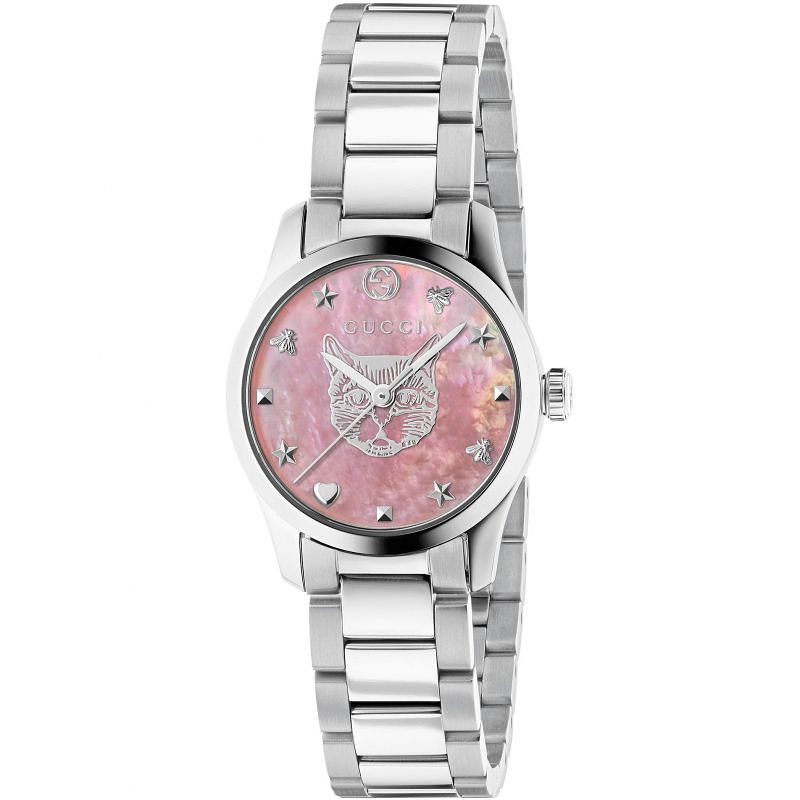 Gucci G-Timeless Cat Stainless Steel Bracelet Watch - Product number 4678834