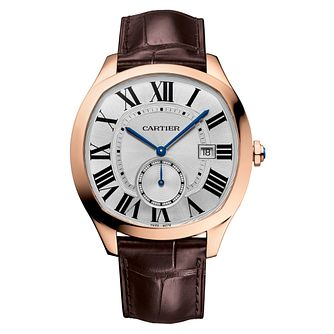 Cartier Drive Men's 18ct Rose Gold Plated Strap Watch - Product number 4678893