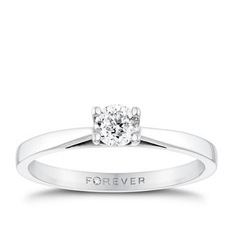 18ct White Gold 1/4 Carat Forever Diamond Ring - Product number 4680308