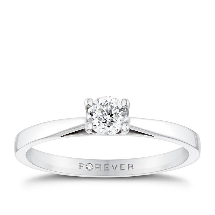 18ct White Gold 1 4 Carat Forever Diamond Ring