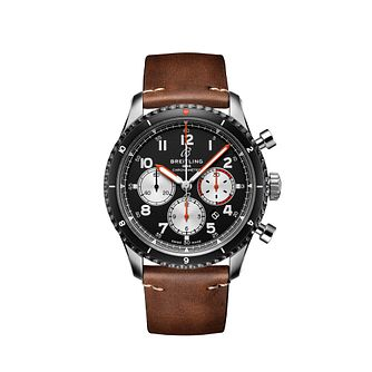 Breitling Aviator 8 B01 Mosquito Men's Leather Strap Watch - Product number 4680553