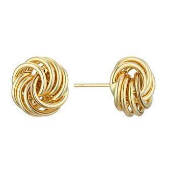 18ct Yellow Gold Rosette Stud Earrings - Product number 4681614