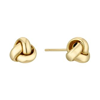 18ct Yellow Gold Knot Stud Earrings - Product number 4681797
