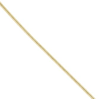 "18ct Yellow Gold 18"" Snake Chain Necklace - Product number 4681800"