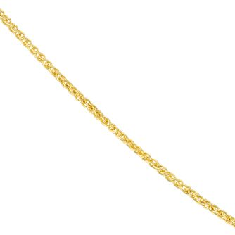 "18ct Yellow Gold 18"" Spiga Chain Necklace - Product number 4681819"