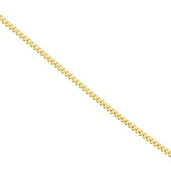 "18ct Yellow Gold Diamond Cut 18"" Curb Chain Necklace - Product number 4681908"