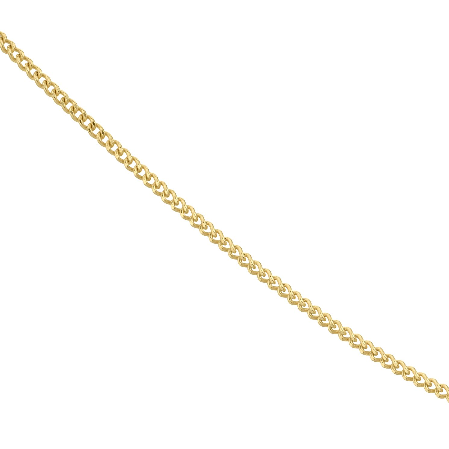 18ct Yellow Gold 18 inches Curb Chain Necklace - Product number 4681916