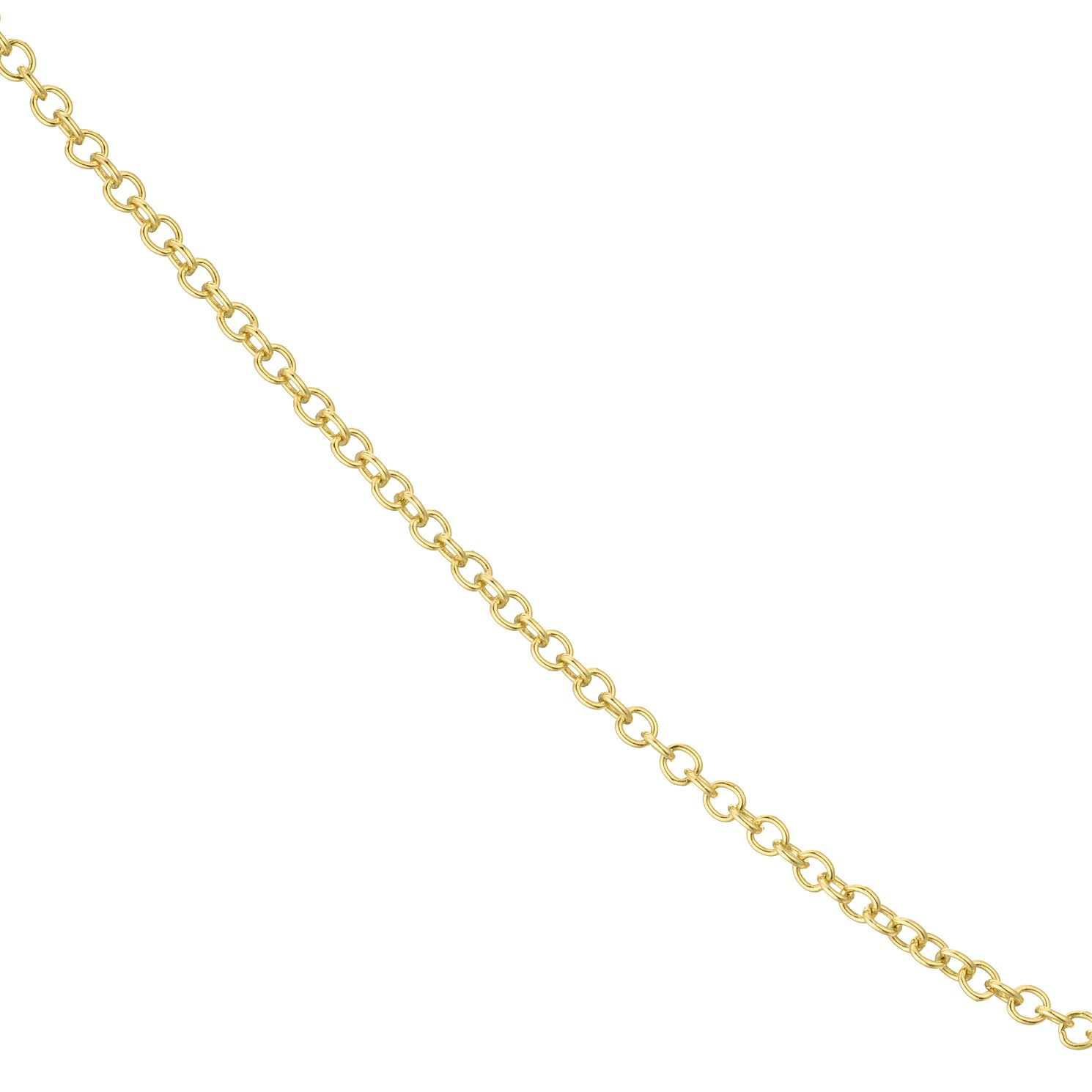 18ct Yellow Gold 18 inches Trace Chain Necklace - Product number 4681924