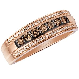 Le Vian Men's 14ct Strawberry Gold Diamond Ring - Product number 4683617