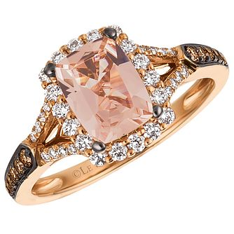 Le Vian 14ct Strawberry Gold Morganite & 0.41ct Diamond Ring - Product number 4684710