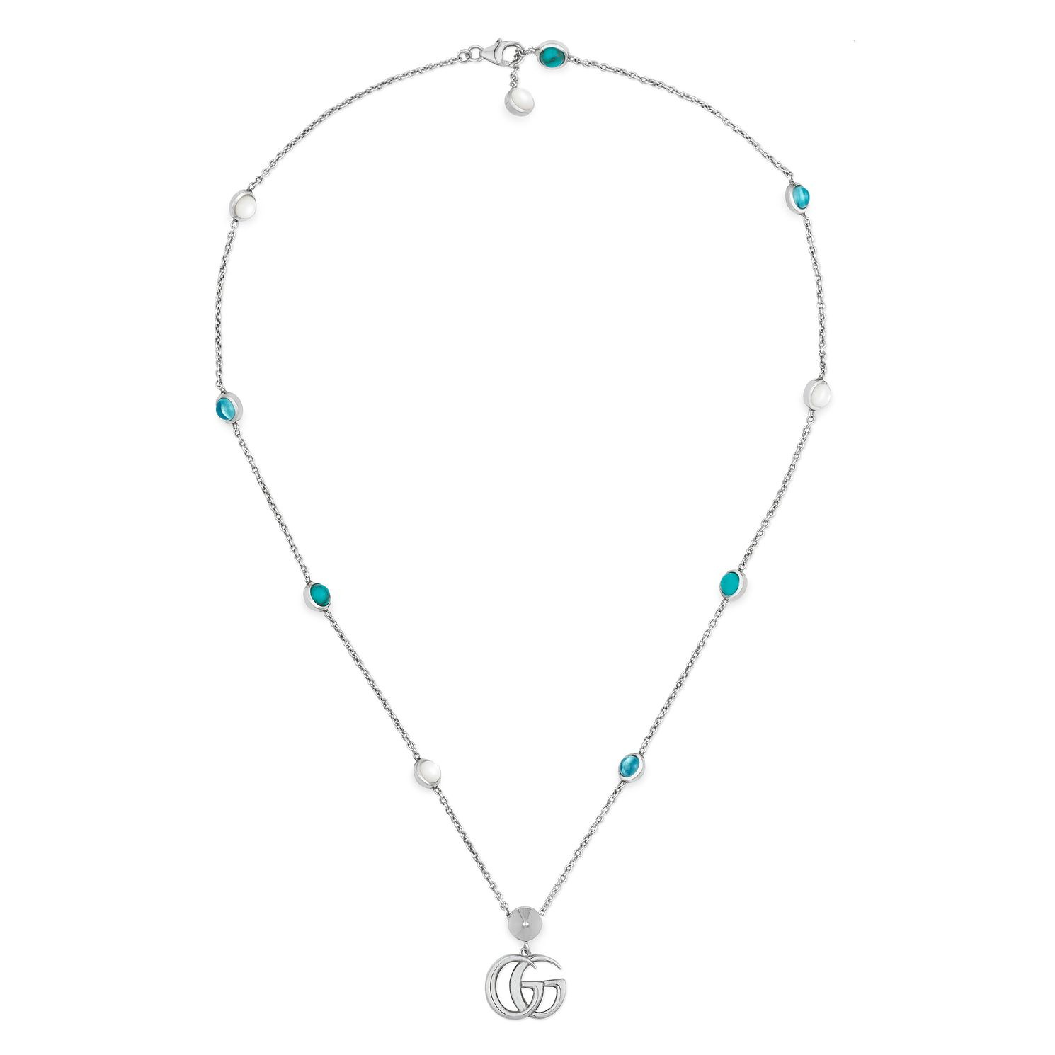 Gucci Silver Marmont Mother Of Pearl Necklace - Product number 4685040
