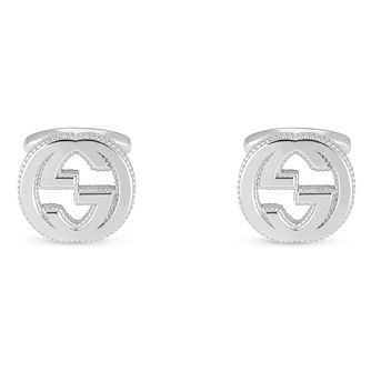Gucci Interlocking GG Men's Silver Cufflinks - Product number 4685091