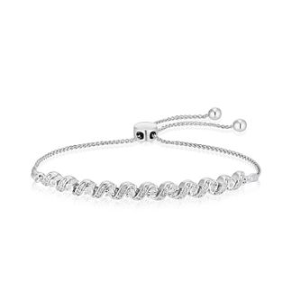 Silver 1/10ct Diamond Twist Bolo Bracelet - Product number 4685199