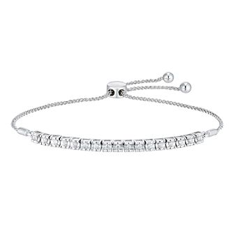 Silver 1/4ct Diamond Bolo Bracelet - Product number 4685210