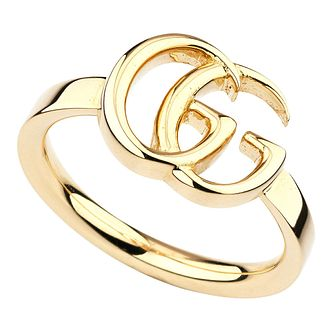 Gucci 18ct Yellow Gold GG Logo Ring - Product number 4685423