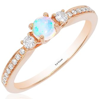 Le Vian 14ct Strawberry Gold Opal & 0.14ct Diamond Ring - Product number 4685776