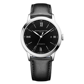 Baume & Mercier Classima Black Leather Strap Watch - Product number 4687906