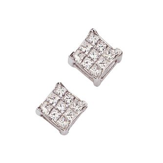 18ct white gold 20 point diamond earrings - Product number 4696271