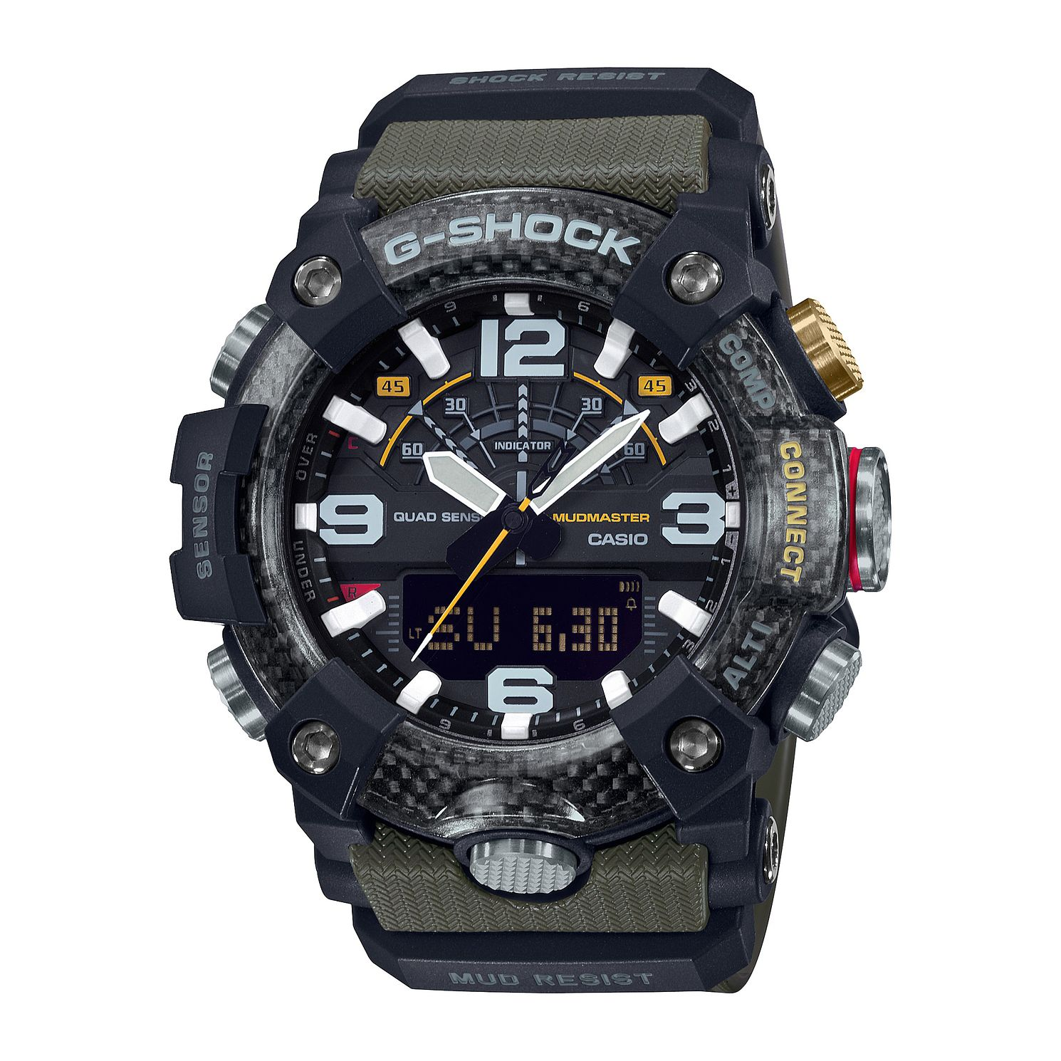 Casio G-Shock Men's Mudmaster Khaki Rubber Strap Watch - Product number 4701623