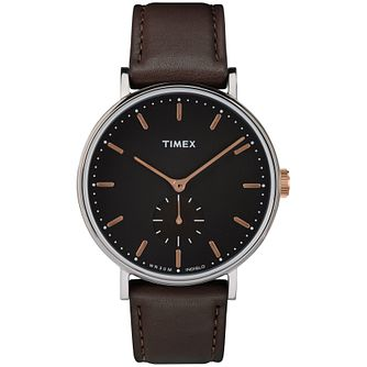 Timex Fairfield Men's Black Strap Watch - Product number 4702964