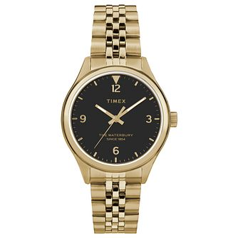 Timex Waterbury Ladies' Yellow Gold Plated Bracelet Watch - Product number 4703065