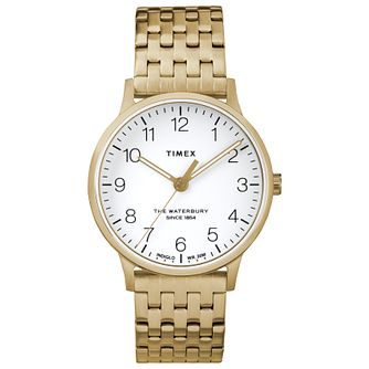 Timex Waterbury Ladies' Yellow Gold Plated Bracelet Watch - Product number 4703251