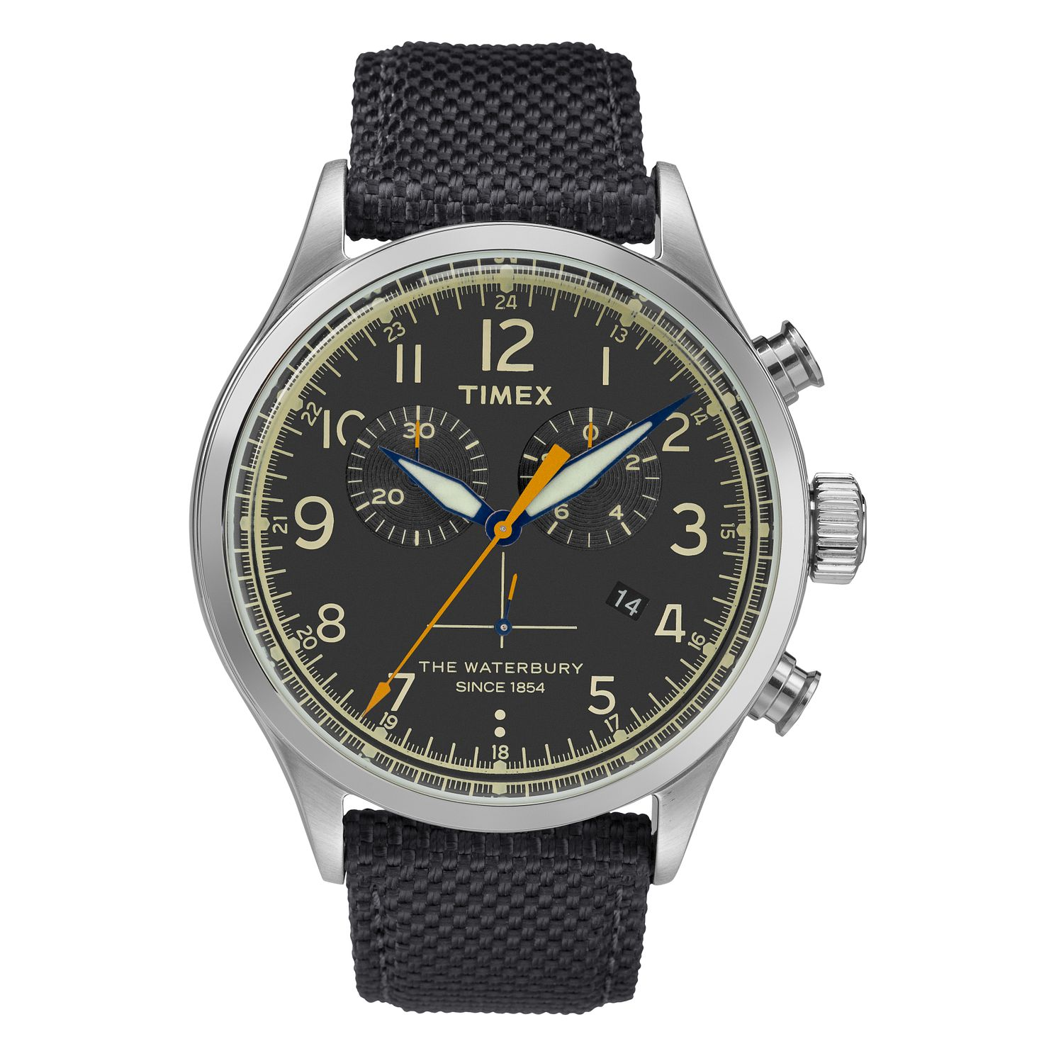Timex Waterbury Men's Black Fabric Strap Watch - Product number 4703316