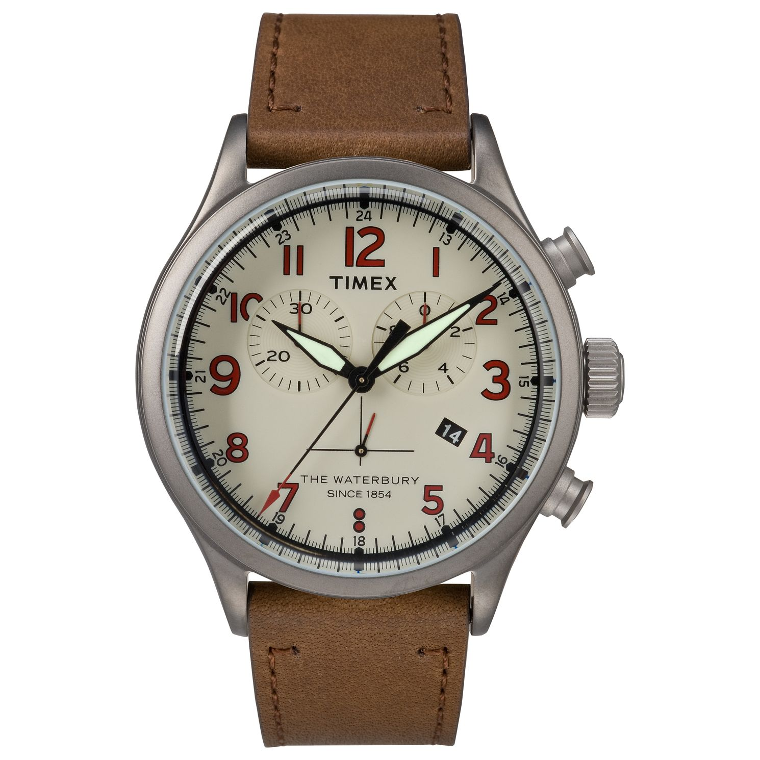 Timex Waterbury Men's Bronze Brown Strap Watch - Product number 4703340