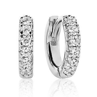 Sif Jakobs Silver Rhodium Plated Zirconia 11mm Hoop Earrings - Product number 4703456