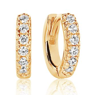 Sif Jakobs 18ct Gold Plate Silver Zirconia 11mm Earrings - Product number 4703464