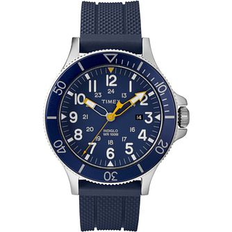 Timex Allied Men's Stainless Steel Blue Strap Watch - Product number 4703499