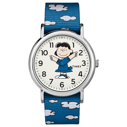Timex Peanut Collection Lucy Blue Strap Watch - Product number 4703553