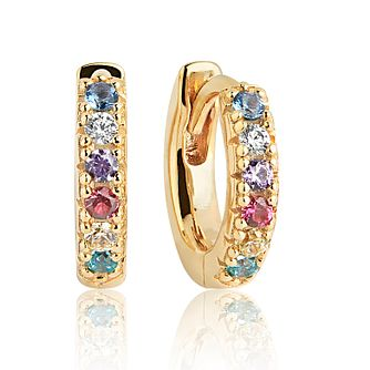 Sif Jakobs Ellera Multicolour Zirconia Hoop Earrings - 14mm - Product number 4705076