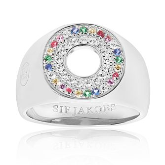 Sif Jakobs Valiano Multicolour Zirconia Signet Ring - Product number 4705157