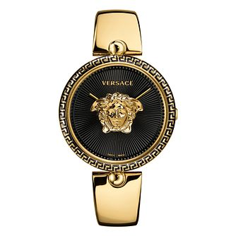 Versace Palazzo Empire Ladies Gold Tone Black Bracelet Watch - Product number 4705394