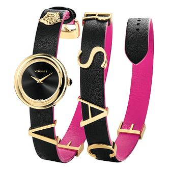 Versace V-Flare Ladies' Black Strap Watch - Product number 4705440
