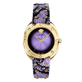 Versace Shadov Ladies' Gold Tone Purple Strap Watch - Product number 4705874