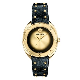 Versace Shadov Ladies' Black Leather Strap Watch - Product number 4705963