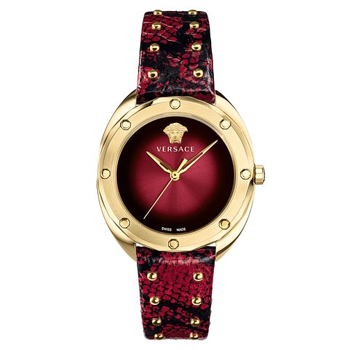 Versace Shadov Ladies' Red Leather Strap Watch - Product number 4706021